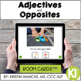 Adjectives & Opposites Vocabulary Practice BOOM CARD™ Deck