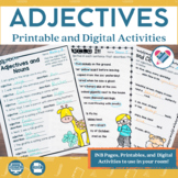 Adjectives Printables and Digital Version Distance Learning
