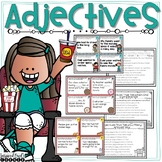 Adjectives and Articles Task Cards, Posters, and Extra Practice