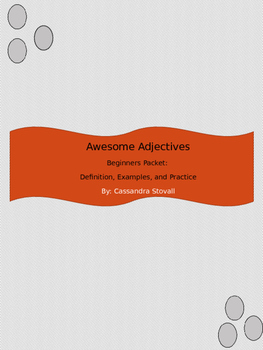 Adjectives Packet