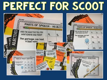 Adjectives - Parts of Speech Task Cards