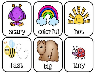 Adjective ~ Picture Word Cards