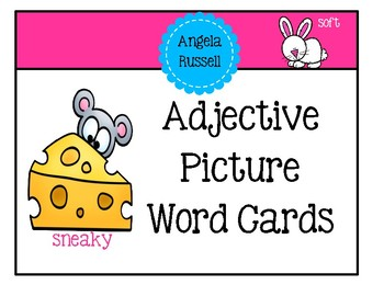 Adjective - Picture Word Cards