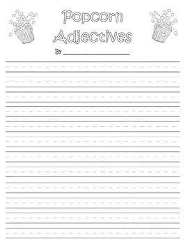 Adjectives- Popcorn Activity