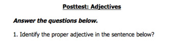 Adjectives Postest