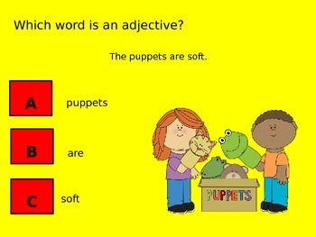 Adjectives Power Point - Clicker Lesson