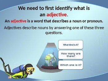 Adjectives Power Point Lesson