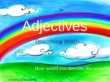 Adjectives Power Point Presentation