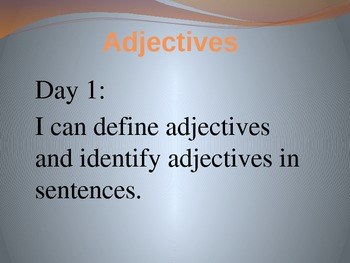 Adjectives PowerPoint