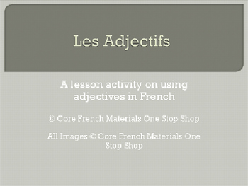 Adjectives Lesson & Activity