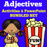 Adjectives | 1st 2nd 3rd Grade | PowerPoint | Worksheets A