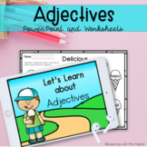 Adjectives  PowerPoint Slides and Worksheets | Distance Learning