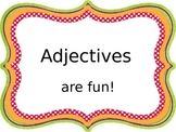 Adjectives PowerPoint...1st grade