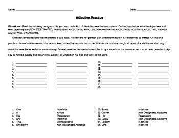 Adjectives Practice 1
