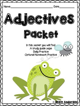 Adjectives Practice Packet