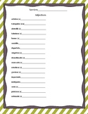 Adjectives Practice Sheets and Flash Cards in Spanish (adjetivos)