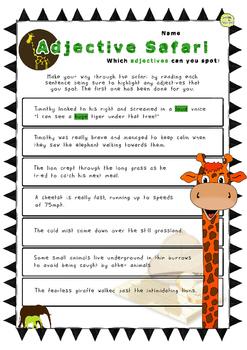 Adjectives Worksheets / Activities