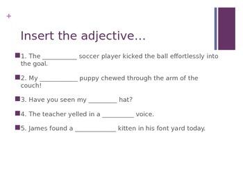 Adjectives Presentation