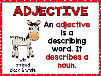 Adjectives  Printables
