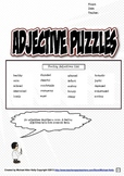 Adjectives Puzzle Set (Feelings Adjectives)