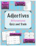 Adjectives Quiz and Trade Game {Differentiated}