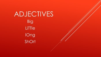 Adjectives SMART Activity