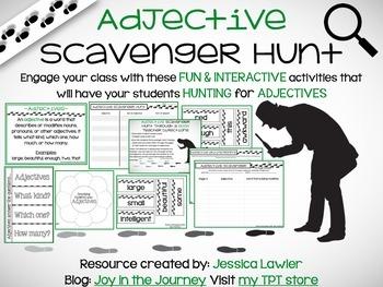 Adjectives Scavenger Hunt