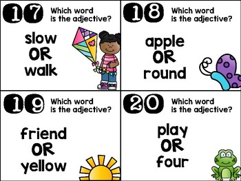 Adjectives Scoot Game