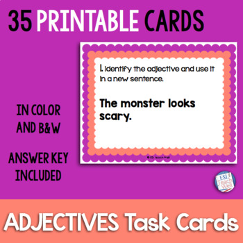 Scoot Adjectives Task Cards