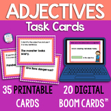 Adjectives Task Cards | Adjectives Identification | Printable & Boom Cards