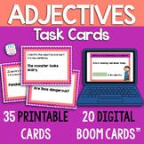 Adjectives Boom Cards: printable task cards & digital Boom Cards