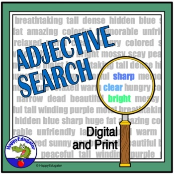 Adjectives Search: Find the Adjectives in the Story
