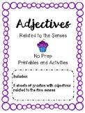 Adjectives (Senses) Printables and Activities