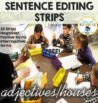 Adjectives Sentence Editing Strips