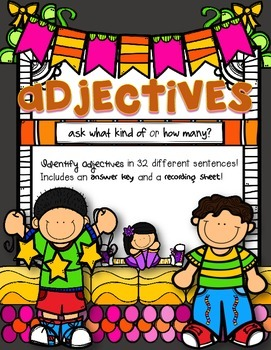 Adjectives: Sentence Strips