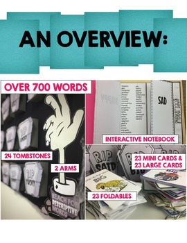 Boring Words Interactive Notebook & Synonym Booklets Bundle & BULLETIN BOARD set