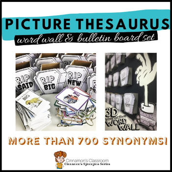 Boring Words Interactive Notebook and Synonym Booklets Bundle