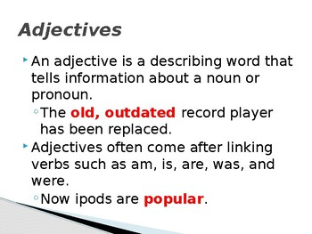 Adjectives Slide Show