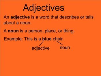 Adjectives Smartboard Presentation