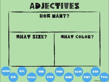 Adjectives Sort (Great for Google Classroom!)