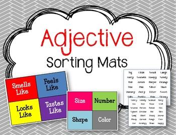 Adjectives Sorting Mat.  ELA Center