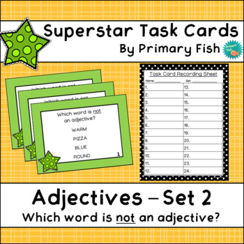Adjectives - Superstar Task Cards - Set 2