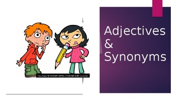 Adjectives & Synonyms PowerPoint
