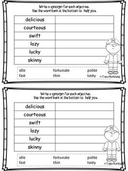 Adjectives, Synonyms, and Shades of Meaning