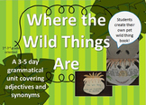 Adjectives, Synoyms, and Pet Wild Thing Book Using Where The Wild Things Are