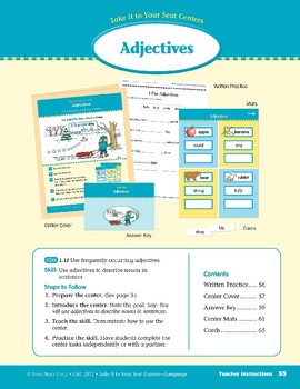 Adjectives (Take It to Your Seat Centers: Common Core Language)