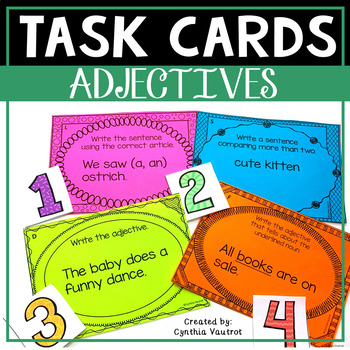 Adjectives! Task Cards!
