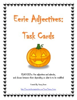 Adjectives Task Cards