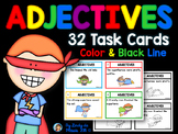 Adjectives Task Cards Superhero Theme