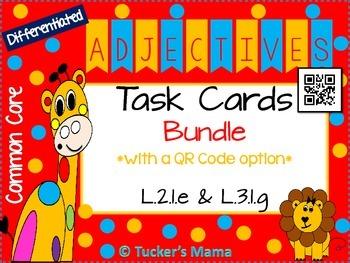 Adjectives Task Cards Bundle